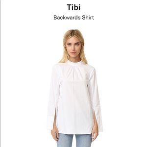 Tibi Tops - TIBI backwards boyfriend button up